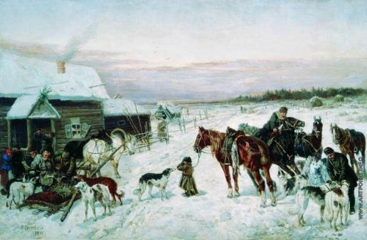 Сверчков Н. Е. У кабака зимой