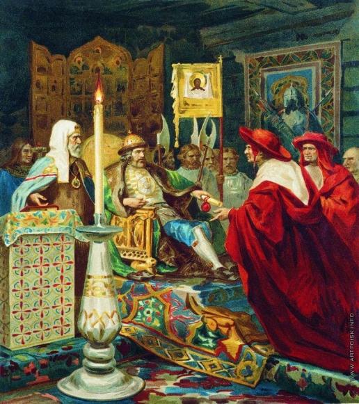Семирадский Г. И. Александр Невский принимает папских легатов