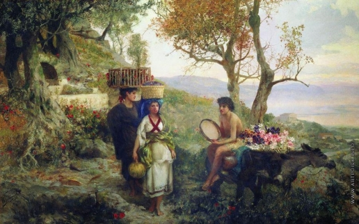 Семирадский Г. И. Из античной жизни. По дороге на праздник урожая