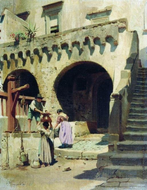 Семирадский Г. И. Итальянский дворик
