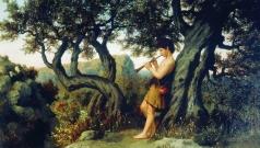 Семирадский Г. И. Пастушок, играющий на свирели
