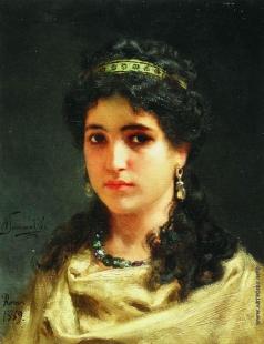 Семирадский Г. И. Портрет молодой римлянки