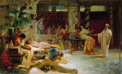 Семирадский Г. И. Сократ застает своего ученика Алкивиада у гетеры
