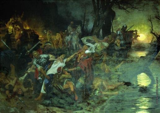Семирадский Г. И. Тризна дружинников Святослава после боя под Доростолом в 971 году