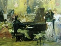 Семирадский Г. И. Шопен в салоне князя Антона Радзивилла в Берлине в 1829 году