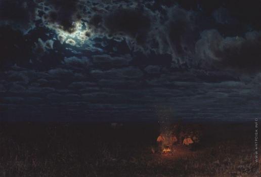Сергеев Н. А. Ночью в степи