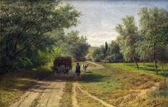 Сергеев Н. А. Повозка у околицы