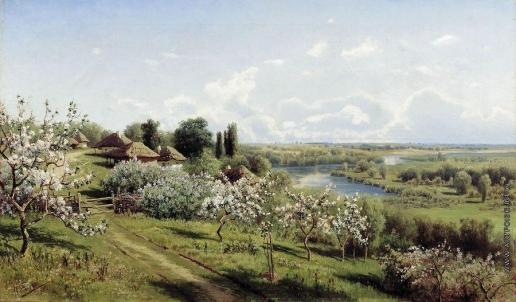 Сергеев Н. А. Яблони в цвету. В Малороссии