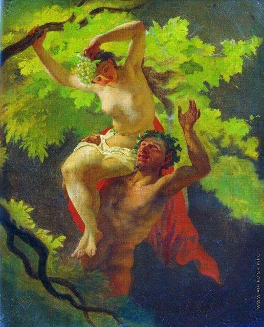 Скотти М. И. Сатир и вакханка