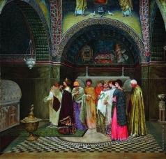 Смирнов В. С. Утренний выход византийской царицы к гробницам своих предков. 1889-