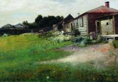 Соколов В. И. Двор в окрестности Троице-Сергиевой лавры