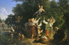 Соколов И. И. Сбор вишни в помещичьем саду на Украине