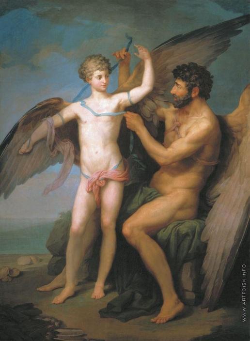 Соколов П. И. Дедал привязывает крылья Икару
