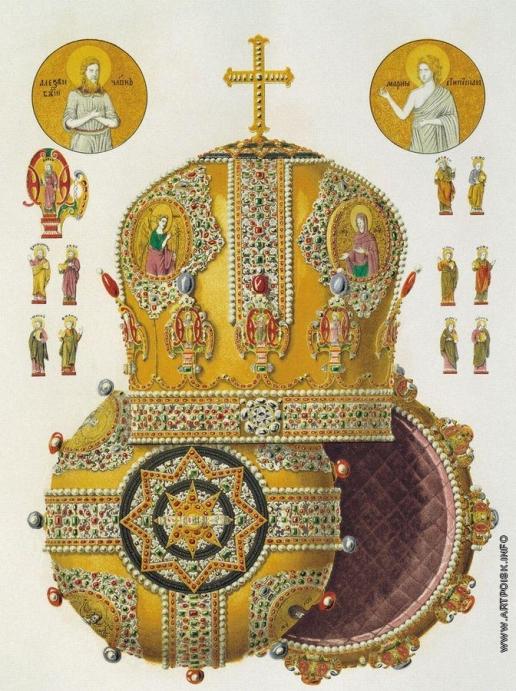 Солнцев Ф. Г. Митра патриарха Никона, подаренная боярином Никитою Ивановичем Романовым