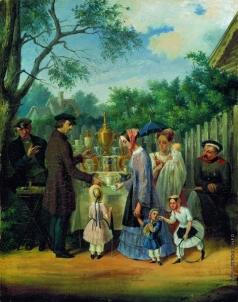 Соломаткин Л. И. В увеселительном саду (Уличная сценка)