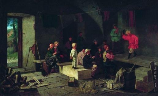 Соломаткин Л. И. Репетиция в сарае (Детский театр)