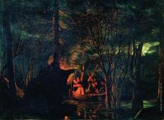 Соломаткин Л. И. Рыбная ловля острогой ночью