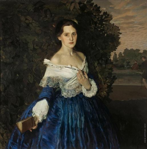 Сомов К. А. Дама в голубом (Портрет художницы Е.М.Мартыновой). 1897-