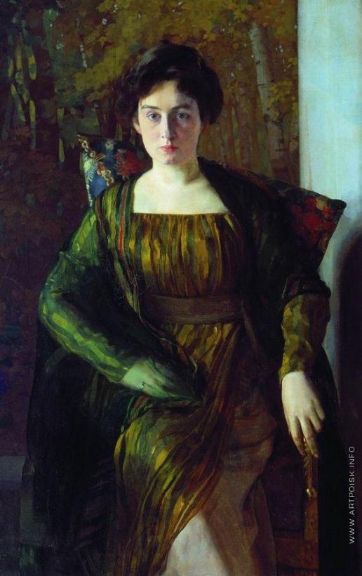 Сомов К. А. Портрет Г.Л.Гиршман. 1910-