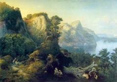 Бочаров М. И. Горный пейзаж с озером