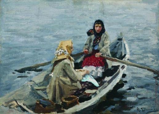 Степанов А. С. В лодке