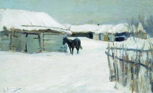 Степанов А. С. Деревня зимой. 1900-