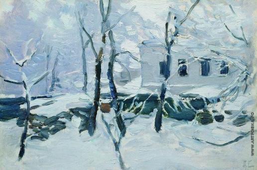 Степанов А. С. Зима. Иней. 1900-