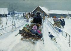 Степанов А. С. Катание на Масленицу