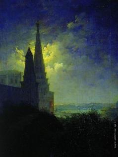 Бочаров М. И. Вид на Московский Кремль и Замоскворечье ночью