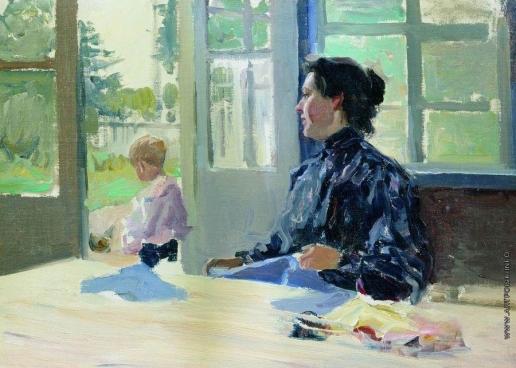 Степанов А. С. На террасе. 1900-