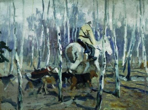 Степанов А. С. С гончими на охоту. 1900-