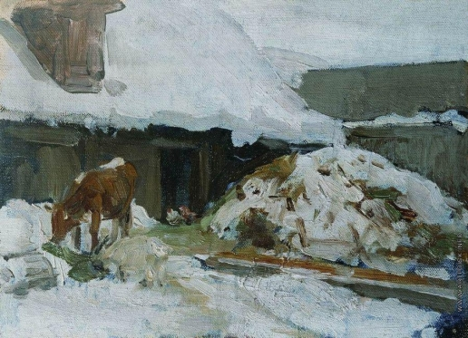 Степанов А. С. Этюд с коровой