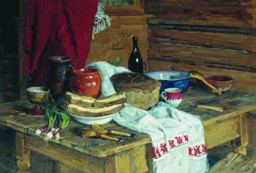Стожаров В. Ф. Натюрморт с хлебом