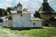 Стожаров В. Ф. Псков. Покровская церковь и  Покровская башня