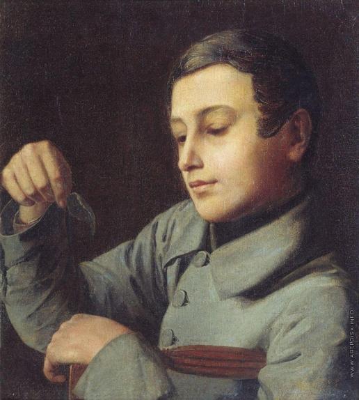 Ступин А. В. Мальчик с листком