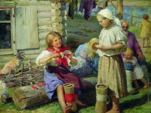 Сычков Ф. В. У хаты