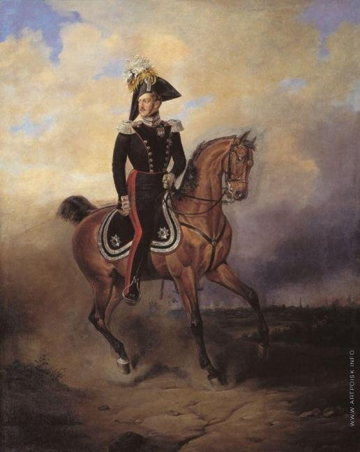 Тимм В. Ф. Портрет императора Николая I на коне