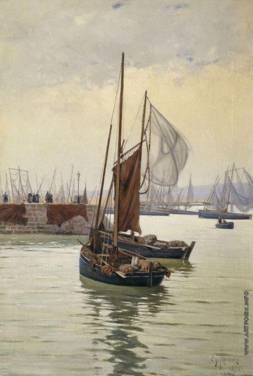 Ткаченко М. С. Рыбачьи лодки в Даурнене (Бретань)