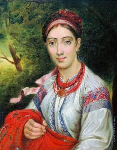 Тропинин В. А. Девушка украинка в пейзаже