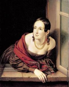 Тропинин В. А. Женщина в окне (Казначейша)