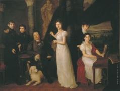Тропинин В. А. Семейный портрет графов Морковых