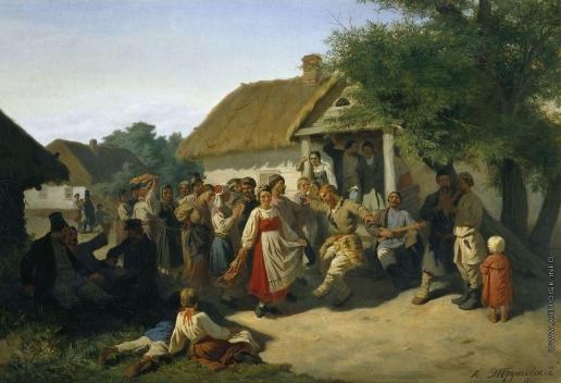 Трутовский К. А. Хоровод в Курской губернии