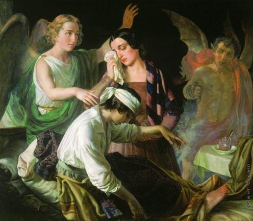 Тыранов А. В. Ангел, попирающий злого духа в борьбе за душу