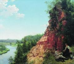 Тыранов А. В. Вид на реке Тосно близ села Никольского