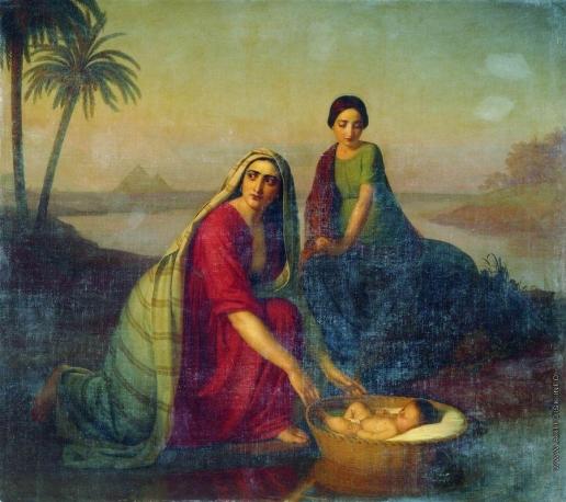 Тыранов А. В. Моисей, опускаемый матерью на воды Нила