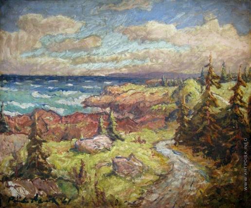 Аавик П. Э. Прибрежный пейзаж
