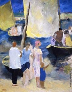 Урманче Б. И. Катанье на парусных лодках