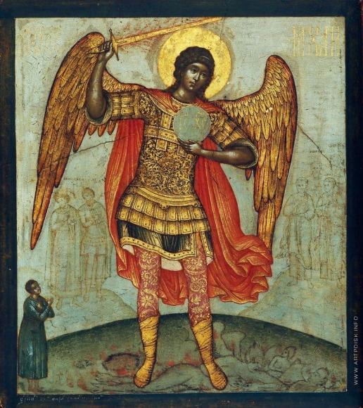 Ушаков С. Ф. Архангел Михаил, попирающий дьявола