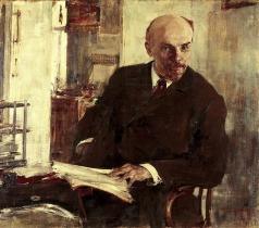 Фешин Н. И. Портрет В.И.Ленина