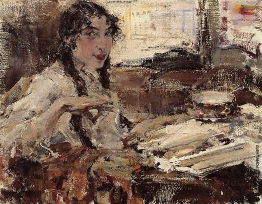 Фешин Н. И. Портрет Т.А.Поповой